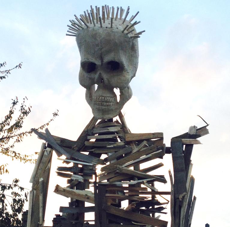 POST_Skeleton in Yard