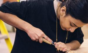 marking sawing halving